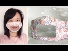 Imagine living in a world where you can't hear anything or listen to someone speak. This Smile Mask design has a clear window that al. Clear Face Mask, Easy Face Masks, Homemade Face Masks, Diy Face Mask, Sewing Hacks, Sewing Tutorials, Mascara 3d, Diy Masque, Smile Face