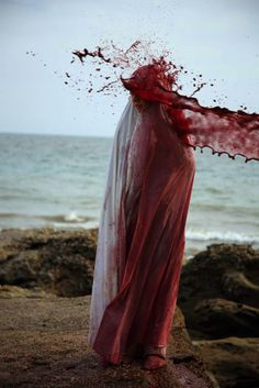 Sanguine, blood, sweat, tears and the ocean.