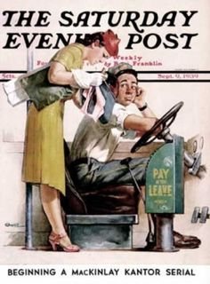 Paying the Fare (September 9, 1939) The Saturday Evening Post by Norman Rockwell