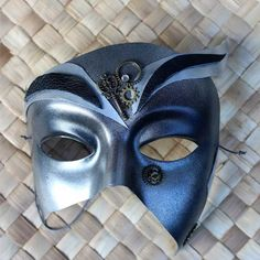 Steampunk party mask with key and cogs