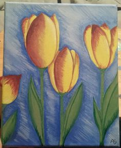 Tulips in acrylic April 20th, 2017