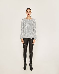 ZARA - WOMAN - CHECKED BLOUSE
