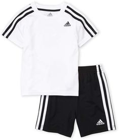 adidas Toddler Boys) Two-Piece Soccer Tee & Shorts Set Soccer Outfits, Boys Summer Outfits, Little Boy Outfits, Toddler Boy Outfits, Nike Outfits, Toddler Soccer, Toddler Boys, Toddler Adidas, Toddler Chores