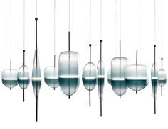 Flow(t) Glass Chandelier by Nao Tamura