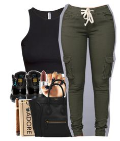 """""""Rihanna X Needed Me"""" by uniquee-beauty ❤ liked on Polyvore featuring H&M, Retrò and MAC Cosmetics"""