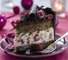 Double Chocolate Cake And Raspberry