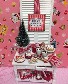 Pink and Red Hot Cocoa Station by RibbonwoodCottage on Etsy, $79.00