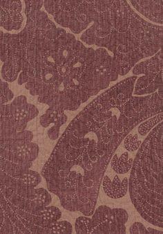 Nantes Overdye fabric in Plum/Salmon.