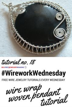 Now THIS is a wire wrapped pendant I can't wait to try! #WireworkWednesday