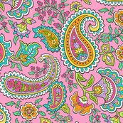 Bohemian Paisley on Pink custom fabric by caja_design for sale on Spoonflower Paisley Coloring Pages, Pink Fabric, Cute Designs, Creative Business, Custom Fabric, Spoonflower, Craft Projects, Bohemian, Kids Rugs