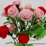 Rosas de Pitiminí de ganchillo – Flores de crochet I