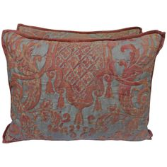 1200 Pair of Rare Quilted Fortuny Pillows | From a unique collection of antique and modern textiles at https://www.1stdibs.com/furniture/more-furniture-collectibles/textiles/