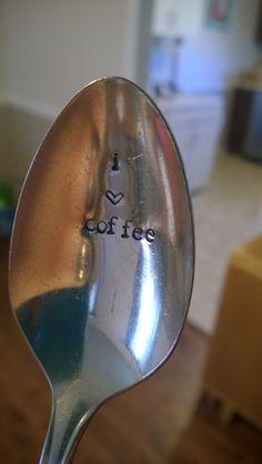 impressart heart stamp metal stamping spoons silver