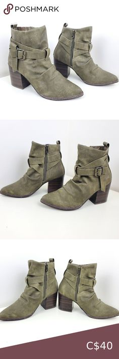 Blowfish boots army green size 10 booties Blowfish boots army green size 10 booties Pet free smoke free home Blowfish Shoes Ankle Boots & Booties Old Navy Boots, Grey Ankle Boots, Brown Riding Boots, Red Boots, Leather Heeled Boots, Leather Riding Boots, Tall Winter Boots, Blowfish Shoes, Brown Booties