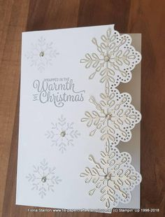 Best 12 Stampin' Up! Stampin Up Christmas 2018, Christmas Cards 2017, Stamped Christmas Cards, Homemade Christmas Cards, Xmas Cards, Homemade Cards, Holiday Cards, Diy Christmas Snowflakes, Snowflake Cards