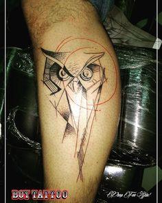 #tattoo #geometrictattoo #corujatattoo #sabedoria