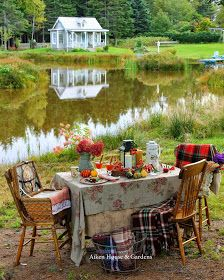 Aiken House & Gardens: An Autumn Picnic Tablescape Outdoor Dining, Outdoor Spaces, Outdoor Decor, Lawn And Garden, Home And Garden, Fall Picnic, Al Fresco Dining, Outdoor Entertaining, Outdoor Parties