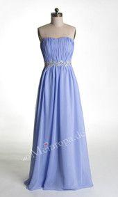 Herz-Ausschnitt Empire Bodenlang Abendkleider lila ASLY212#meinropa#