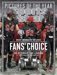 On the Cover: Eric LeGrand, College Football, Rutgers  Photographed by: Mel Evans / AP