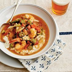 Shrimp-and-Crab Gumbo Over Grits - 19 Comfort Food Recipes - Coastal Living