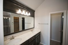 These Italian marble countertops are stunning!  6305NW 157th Terrace, Edmond, OK | Deer Creek Park