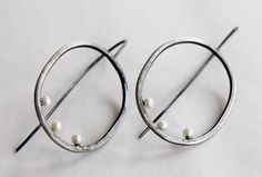 Modern+pearl+earrings+by+metallist+on+Etsy,+$52.00
