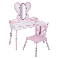Levels of Discovery Sugar Plum Vanity & Chair Set - Plum/ Pink