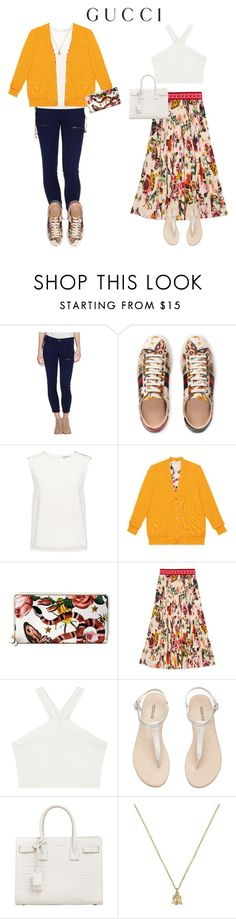 """""""Presenting the Gucci Garden Exclusive Collection: Contest Entry"""" by hannahpaterson64 ❤ liked on Polyvore featuring Gucci, Finders Keepers, BCBGMAXAZRIA, Yves Saint Laurent and gucci"""