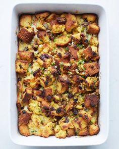 Dried-Fruit and Nut Cornbread Dressing Recipe