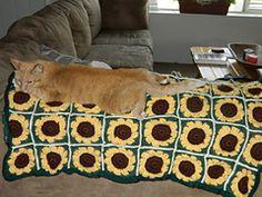 Ravelry: Sassy Sunflower Afghan pattern by Mom's Love of Crochet - free pattern