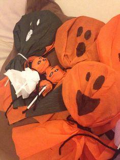 Manualidades por mis Sobrinos!! #Halloween #Golosinas