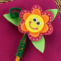 Peppy Petals Pencil Topper