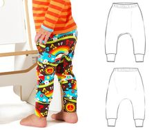 Slim harem pants pattern - Brindille & Twig
