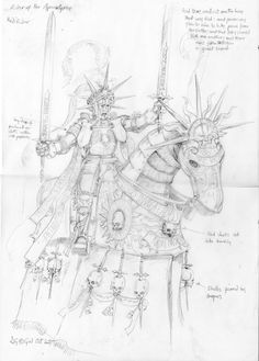 What could have been - Warhammer concept sketches Warhammer Empire, Warhammer Art, Warhammer Fantasy, High Fantasy, Fantasy Rpg, Fantasy Artwork, Character Concept, Concept Art, Fantasy Illustration