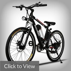 Ancheer Power Plus - Budget-friendly E-bike  Electric Mountain Bike with Removable Lithium-Ion Battery, Battery Charger and Adjustable Chrome Handlebars If you are on a tight budget, the Ancheer Power Plus may be an apt choice for you.  It's considerably one of the most budget-friendly e-bikes out there.  This e-bike has plenty more to offer than just the price, however.  The Ancheer brags a premium quality 100% aluminium alloy frame body, with a high-strength carbon steel fork equipped with…
