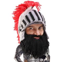 d409ec075e1 Barbarian Looter Beard Head knit viking hat with beard! Makes a great gift!  Available at www.beardhead.com