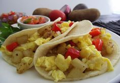 Egg & Tater Breakfast Tacos (makes 2-4 servings; total cost per serving: $0.50)