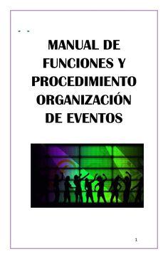 Manual de organizacion de eventos octubre 1