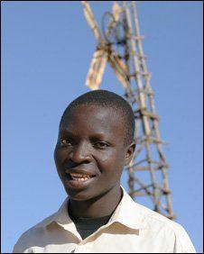 Malawi windmill boy with big fans