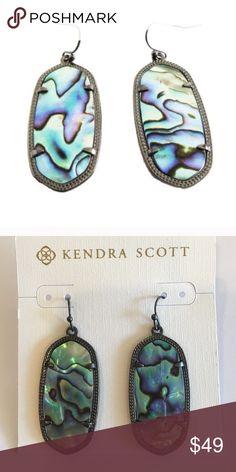 NWT - Kendra Scott Ellie Earrings Tags attached. Gunmetal. Flawless Kendra Scott Jewelry Earrings