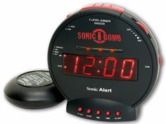 Sonic Bomb Dual Extra Loud Alarm Clock with Bed Shaker, Vibrating Alarm for Heavy Sleepers, Full Range. Title: Sonic Bomb Dual Extra Loud Alarm Clock with Bed Shaker, Vibrating Alarm for Heavy Alarm Clocks, Wall Clocks, Best Alarm, Digital Clock Radio, Hearing Impaired, Hearing Aids, Sonic Boom, Gifts For Teens, Shopping