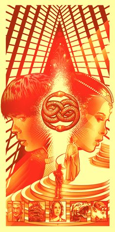 """The way Paul Ainsworth composed this poster to have the Auryn to be """"in the minds of Sebastian and the princess, is brilliant! - The Power of Auryn - The NeverEnding Story Fan art by Paul Ainsworth, via Behance"""