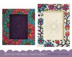 Pintadadibujados a mano para / para fotos 13x18 y 15x21 / en la tienda, 472 esquina 19 Ciudad Campana / envíos a todo el país h #hola #sabado #pic #foto #photo #fotografia #fotografía #marcos #frame #color #color # dibujo #deco #decor #homedecor #casa #interior #homeweethome #homedecor #bellos #lindo #citybell #laplata #bsas #argentina #vialola Wall Painting Decor, Diy Painting, Painting Frames, Picture Frame Crafts, Painted Picture Frames, Handmade Mirrors, Handmade Art, Diy Best Friend Gifts, Landscape Art Quilts