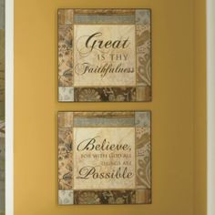 Set of 2 Believe Wall Plaques from Through the Country Door®