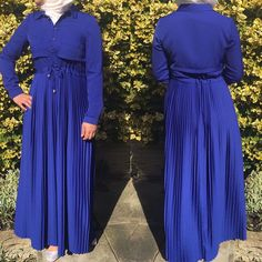 "7 Likes, 1 Comments - Allure.Abayas (@allure_abayas) on Instagram: ""Lovely blue pleated abaya - dress with hidden waist belt that can be adjusted to give you a desired…"""