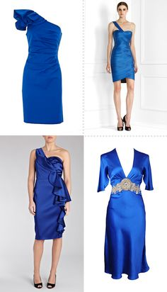 cobalt blue bridesmaid dresses | Shades of Blue - Bridesmaid Dresses Wedding Dilemma