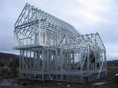 Mundo Seco - Steel Frame Metal Stud Framing, Steel Framing, Steel Frame House, Steel House, Concrete Fence, Pallet Fence, Metal Structure, Interior Exterior, Architect Design