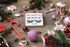 Red Aspen lashes Red Aspen love falsies faux mink silk lashes Christmas holiday love lashes red aspen