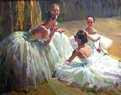 by Edgar Degas. Degas was a french painter and sculptor who took a real interest in dancers of all sort.
