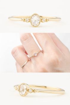Designed and created by Enveor Jewelry Unique Diamond Engagement Rings, Rose Cut Diamond, Handmade Jewelry, Wedding Rings, Band, Sash, Single Diamond Engagement Rings, Handmade Jewellery, Jewellery Making